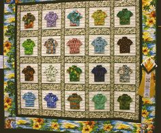 'Hawaiian Shirts for the Menehune' from ECQG 2009 Show Hawaiian Quilts, Hawaiian Print, Quilt Block Patterns, Quilt Blocks, Hand Quilting, Quilting Ideas, Bird Quilt, Crochet Shirt, Aloha Shirt
