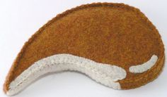 Felt Food Pork Chop by ThePixiePalace on Etsy, $12.00