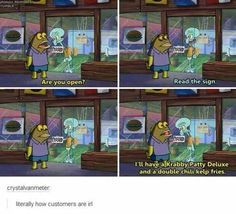 """39 Relatable Spongebob Memes That'll Leave You Personally Attacked - Funny memes that """"GET IT"""" and want you to too. Get the latest funniest memes and keep up what is going on in the meme-o-sphere. Work Memes, Work Humor, Work Quotes, Best Funny Photos, Funny Pictures, Funny Pics, Meme Pics, School Pictures, Sports Pictures"""