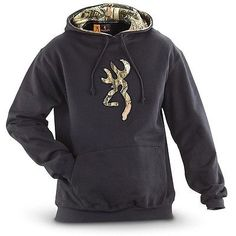 NWT - BROWNING Men's 'BUCKMARK CAMO' Pullover HOODIE Black SIZE: XL