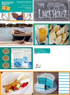 Great ideas for a nautical themed kids birthday party. Great for a lake or beach birthday party.