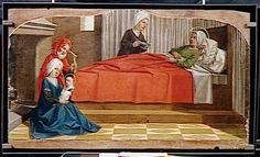 Nicolas Dipre, Retable de la cathédrale Saint-Siffrein de Carpentras : Nativité de la Vierge (Carpentràs 1499, Musée du Louvre, Paris).