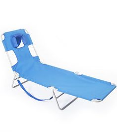 Pack this option to enjoy the comfort of a resort recliner with the ease and convenience of a portable folding chair. Best of all, it has a padded opening so you can lie comfortably face down (and still read a book or magazine!).
