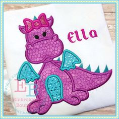 Girl Dragon Applique - Would want green with yellow belly like Jane's Dragon