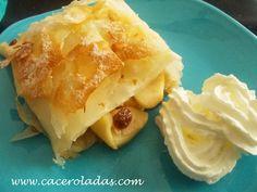 Caceroladas: Strudel de manzana con pasta filo. Pasta Filo, Apple Strudel, Spanakopita, Sans Gluten, Apple Recipes, Mashed Potatoes, Cabbage, Deserts, Pie
