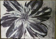 Abstrakce  - květina; akryl / impasto