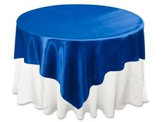 Royal Blue Satin Table Overlay Large Wedding Table Cover