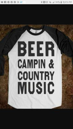 c03ded3009b Beer Campin And Country Music (Baseball) - some of my friends who attend  the Oregon Jamboree   or Willamette Country Music Fest need these