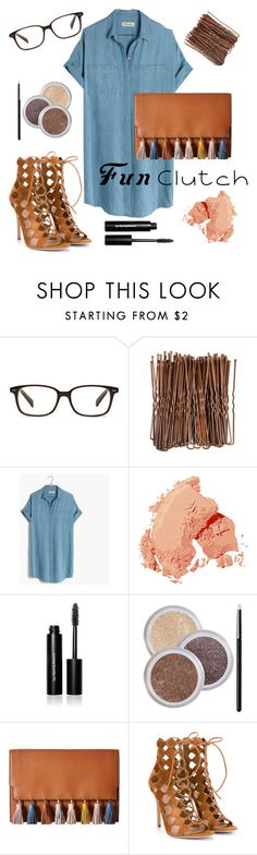 """""""fun clutch"""" by krissi87 ❤ liked on Polyvore featuring Ace, Madewell, Bobbi Brown Cosmetics, Rebecca Minkoff, Gianvito Rossi and funclutch"""