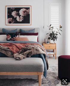 Bedroom Interior Colour Texture Ideas For 2019 Modern Master Bedroom, Cozy Bedroom, Home Decor Bedroom, Bedroom Ideas, Modern Bedrooms, Scandinavian Bedroom, Bedroom Bed, Shabby Chic Bedrooms, Trendy Bedroom