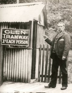 Shipley Glen Tramway - A scenic trip on an historic attraction, this is Sam Wilson who built the tramway and toboggan rides, who l am apparently related to. The Old Days, Days Out, Local History, Family History, West Yorkshire, Family Day, Black And White Pictures, Leeds, Day Trip