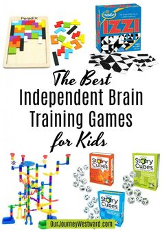 15 of the Best Independent Brain Training Games for Kids These independent brain training games are the perfect addition to any homeschool. Give kids meaningful activities to to alone that will boost brain power! Educational Games For Kids, Activities For Kids, Elderly Activities, Dementia Activities, Physical Activities, Educational Software, Stem Activities, Board Games For Kids, Games For Teens