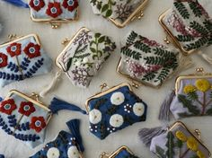 embroidery pouch by yumiko higuchi