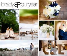 Blue, Green and White rustic wedding.  Shoes: Kate Spade  Dress: Mimi by Watters  C & L from Anthropologie