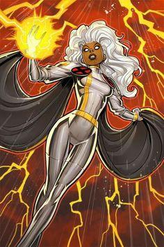Storm by David Nakayama Fleer Ultra X-Men) Comic Movies, Comic Book Characters, Comic Books Art, Comic Art, Storm Marvel, Marvel Dc Comics, Storm Xmen, Rogue Comics, Marvel Heroines
