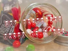 ❄ DIY CHRISTMAS CANDY IN A JAR ❄