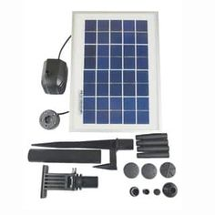 Use this solar water pump kit to get a self-propelled fountain going on your lawn or outdoor area while saving on energy costs. This kit comes with a LED fountain light to peacefully illuminate the water stream at night.  Features: Comes with Battery/ Timer and LED light 3 operation modes: Continuously On, 4 hrs Timer, and Daily 4 hrs Timer Low voltage water pump with filter recycles the same water. Creates the sound of gentle running water Max. Water Flow: 250 LPH Solar module: 3W DC…