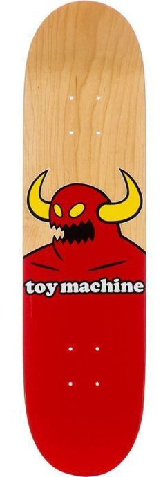 "Toy Machine Monster Skateboard Deck 8.125"" + Free Griptape & Shipping 