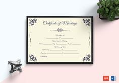 Beautiful Motif Gift Certificate Template - Get high quality, professionally designed template. Templates are available in Word & PDF Formats. Certificate Format, Wedding Certificate, Gift Certificate Template, Marriage Certificate, Free Printable Gift Certificates, Thoughtful Wedding Gifts, Baby Announcement Cards, Certificate Of Appreciation, Letterhead Template