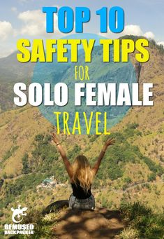 Top 10 Solo Female Travel Safety Tips.  Solo travel as a woman can be a little daunting at first and taking a gap year as a solo female backpacker is often seen as too dangerous or risky, but it really doesn't have to be. Travelling the world solo is one of the most empowering, rewarding and downright awesome things you will ever do, and despite what the mass media or well meaning relatives say it can be extremely safe too. So here are the top 10 expert tips to keep yourself safe