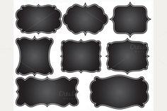 Check out Chalkboard Fancy Frames by MyClipArtStore on Creative Market