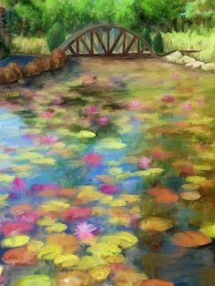 lily pad painting - Google Search