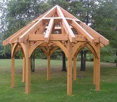 Gazebo gazebosRound Gazebo gazebos Meridian X Gazebo - Brown - Yardistry Projekt domu Extra Gospodarczy 3 Yardistry - x Meridian Gazebo - Coffee Brown wood gazebos