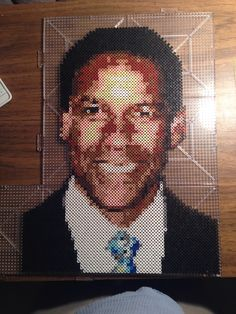 Denzel Washington Perler Art