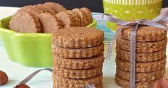 Biscotti senza glutine, ne uova, ne lievito e lattosio, con farina di castagne, farina di grano saraceno e nocciole.