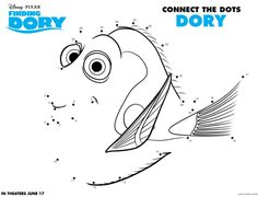 Finding Dory birthday party activity sheets for kids at I am a Mommy Nerd