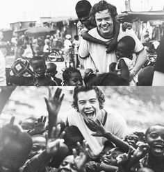 harry styles. love. #onedirection visits ghana.