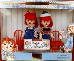 kelly dolls raggedy | ... is the only set that mentions the dolls actually are Kelly and Tommy