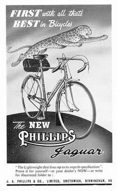 Phillips Jaguar Bicycle, 1951. by Paris-Roubaix, via Flickr