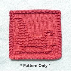 Santa's SLEIGH knit dishcloth pattern by Aunt Susan's Closet.