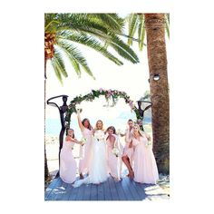 Girls just want to have fun! �� Photo opportunities with your Bride Tribe are a must! This beautiful beach Bride chose the perfect setting to capture a moment she'll always treasure with her Bridesmaids ���� #wedding #weddingday #weddingplanning #weddingflowers #weddingphotography #weddingplanner #weddinginspiration #weddingideas #weddingdecor #weddinginspo #destinationwedding #beachwedding #summerwedding #beachbride #flowerarch #bride #bridetobe #brideinspo #bridestyle #bridetribe…