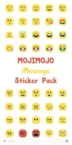 Looking for some fun new #emoji stickers to liven up your text messages? You're going to love MojiMojo Stickers pack! Download the stickers today