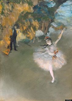 The Star, or Dancer on the Stage by Edgar Degas (1878) | 100 years after the sinking of the Titanic and at the re-release of the epic movie in 3D, it's a good time to share this Degas painting that appeared in the movie...