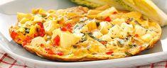 DAGENS RETT: Gresk omelett med artisjokk, paprika og fetaost - Aperitif.no Omelette, Hawaiian Pizza, Vegetable Pizza, Sandwiches, Berries, Lunch, Bread, Vegetables, Breakfast