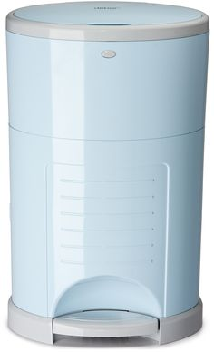 New Soft Blue diaper pail from Dékor Kolor   now on the North American market!  www.diaperdekor.com