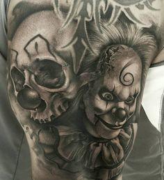 Half Sleeve Tattoos Drawings, Tattoo Design Drawings, Best Sleeve Tattoos, Behind Ear Tattoos, Head Tattoos, Fake Tattoos, Hannya Samurai, Evil Tattoos, Throat Tattoo