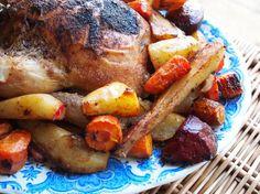 Roasted Chicken & root Vegetables.     via Lavender & Lovage