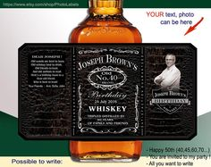 Custom Jack Daniels look like label. Whisky style by PhotoLabels