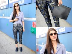 Of course I am lusting after those pants/those sunglasses. Laura Vidrequin   Street Style New York Fashion Week