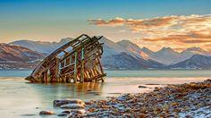 tromsø norway | Ship wreckage near Tromsø, Norway (© Daniel Osterkamp/Getty Images)