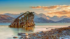 Ship wreckage near Tromsø, Norway (© Daniel Osterkamp/Getty Images) – 2015-08-05  [http://www.bing.com/search?q=Troms%C3%B8,+Norway&form=hpcapt&filters=HpDate:%2220150805_0700%22]