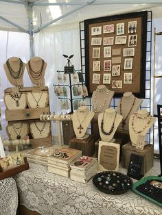 Jewelry booth display, Lacy Taylor