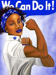 We Can Do It  Zeta Phi Beta by ThePanhellenist on Etsy