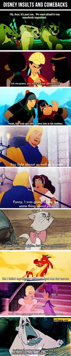 "Disney insults  ""Let me guess, you have  a GREAT personality"""
