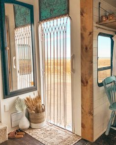 See how a couple transformed their outdated RV into a boho surf shack! See how a couple transformed Architecture Renovation, Home Renovation, Camper Renovation, Surf Shack, Rv Living, Tiny Living, Surfing Lifestyle, Airstream Interior, Cafe Interior