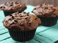Double Chocolate Banana Muffins from Food.com: